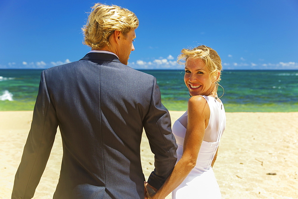 Beach Wedding, Kauai, Hawaii, United States Of America