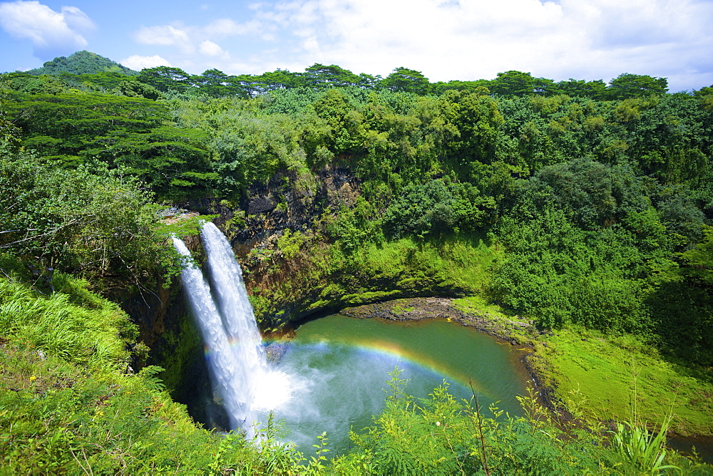 Wailua Falls, Kauai, Hawaii, United States Of America