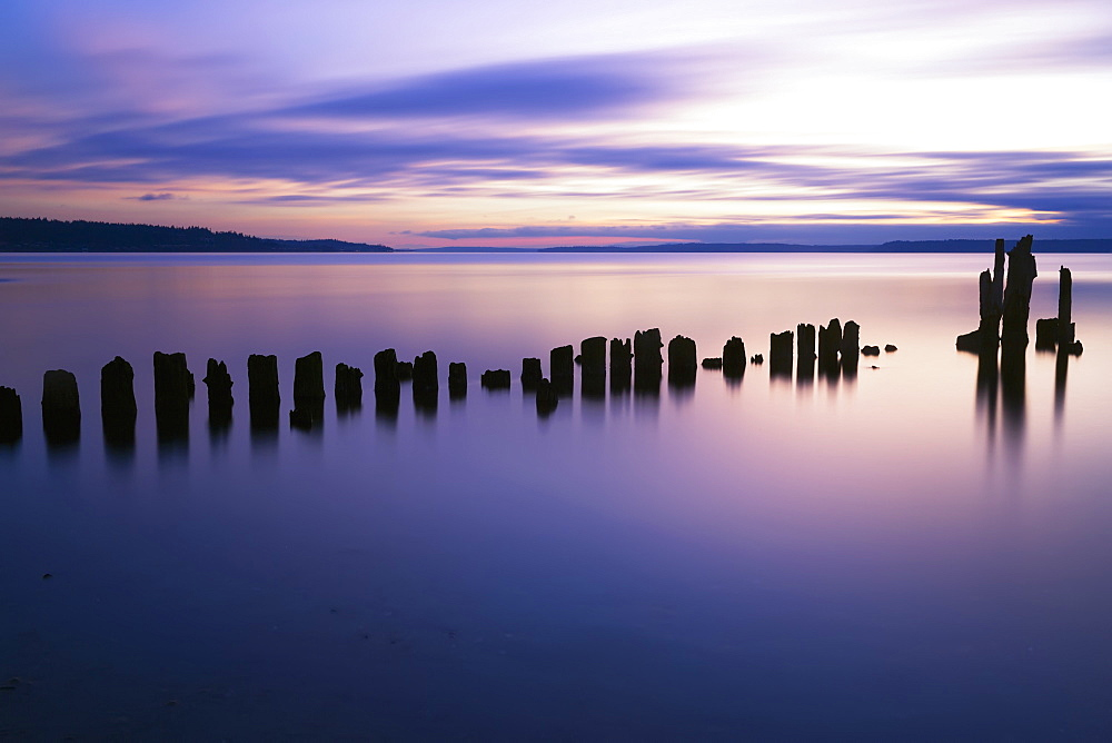 Sunset At Picnic Point, Everett, Washington, United States Of America