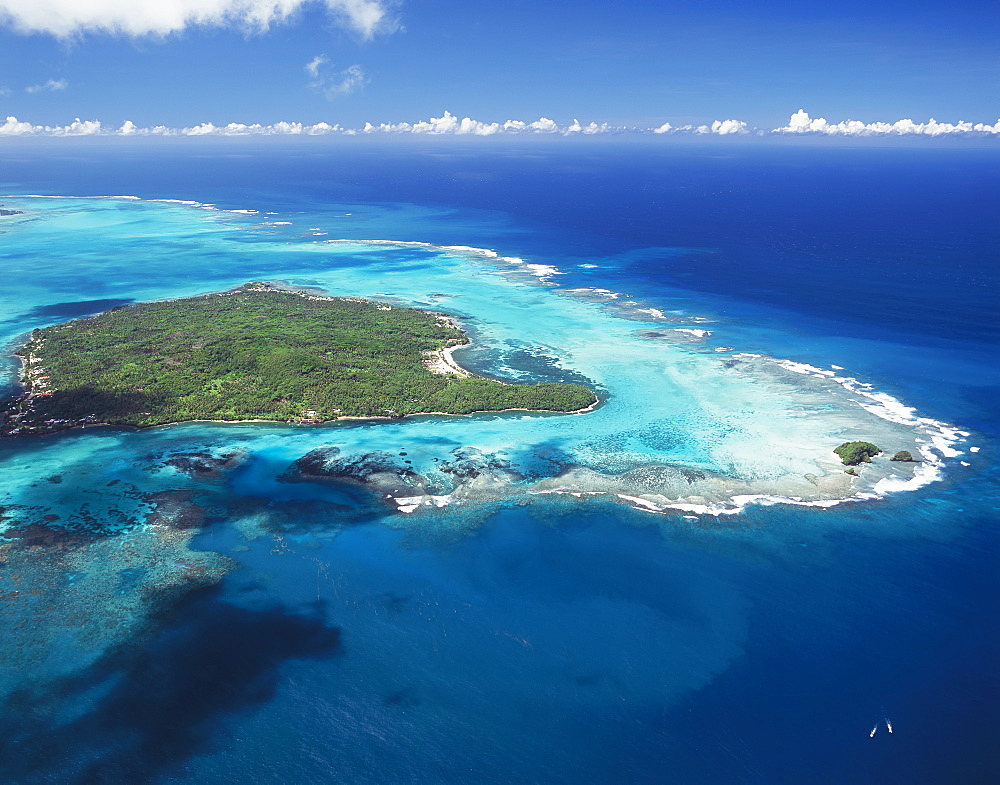 Aerial View Of Small Samoan Island Between Upolu And Savaii, Samoa