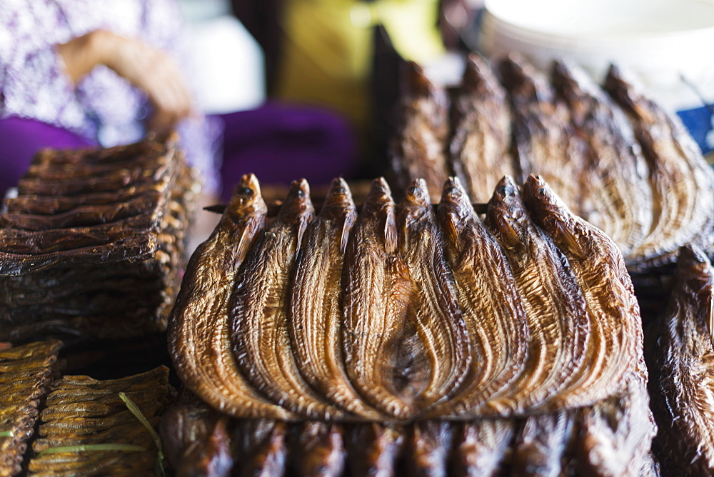 Dried Fish In Battambang Market, Battambang, Cambodia