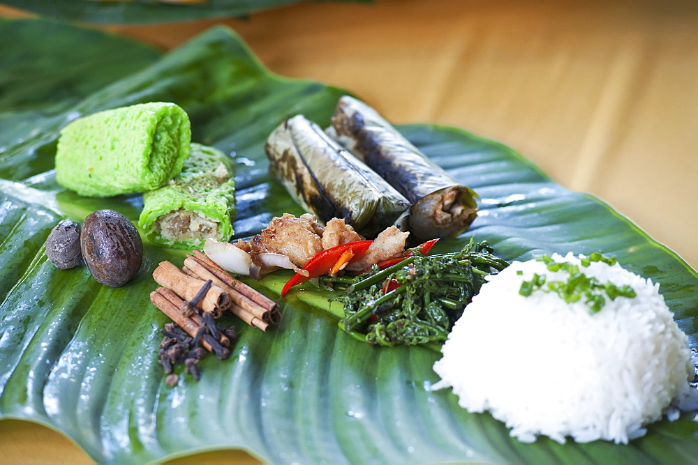 Local Food Served At Ulu Temburong National Park Resort, Brunei