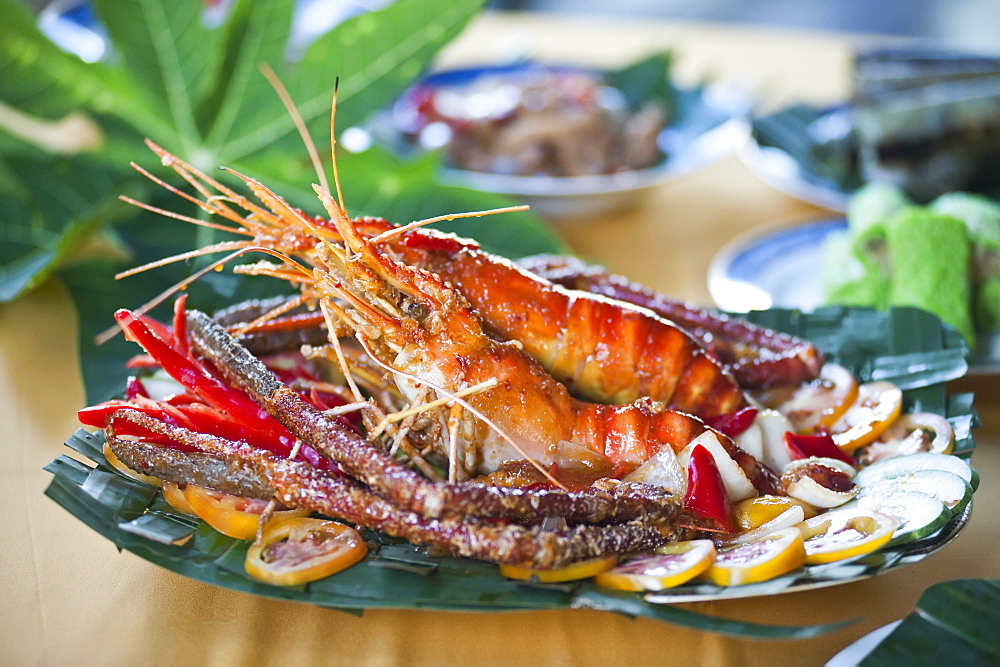 Freshwater Prawns Served At Ulu Temburong National Park Resort, Brunei