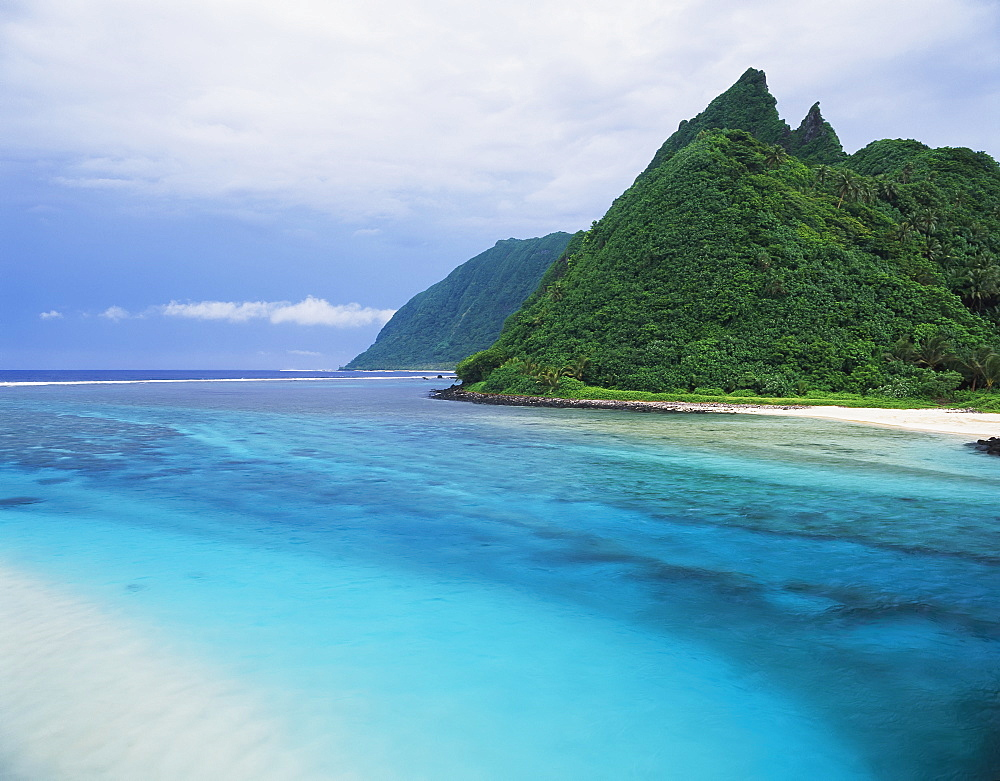 A River Channel Running Through Ofu Island, American Samoa