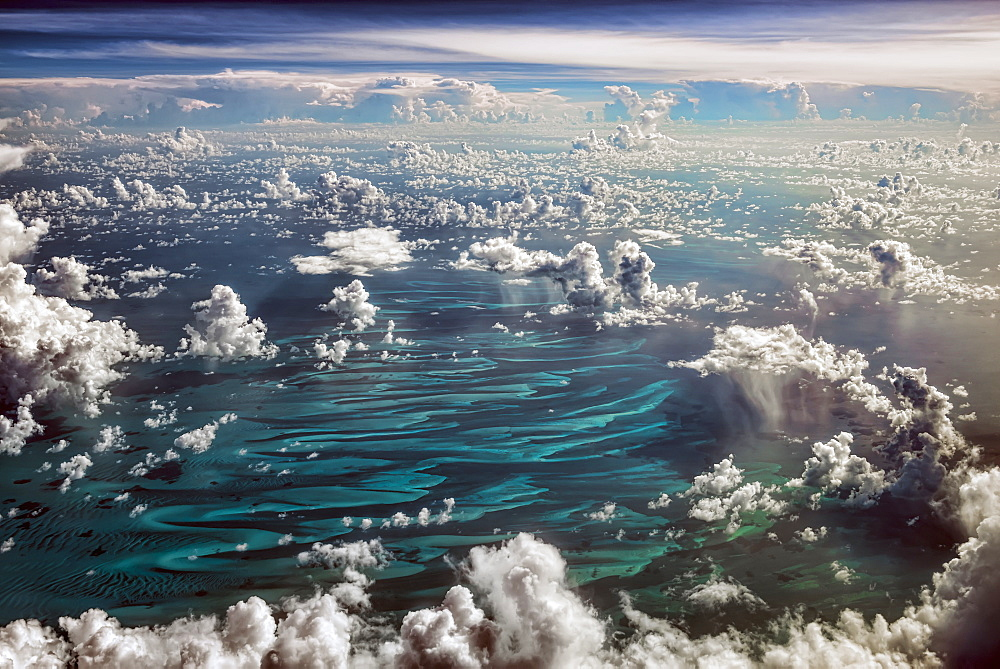 Cumulus Clouds Over The Caribbean