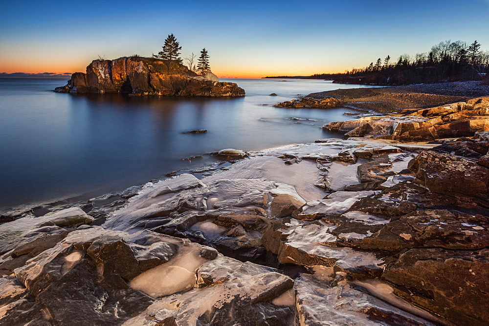 Lake Superior At Dusk, Thunder Bay, Ontario, Canada