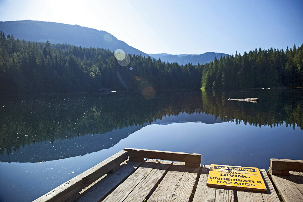 Morning Light On Cat Lake, Just North Of Squamish, British Columbia, Canada