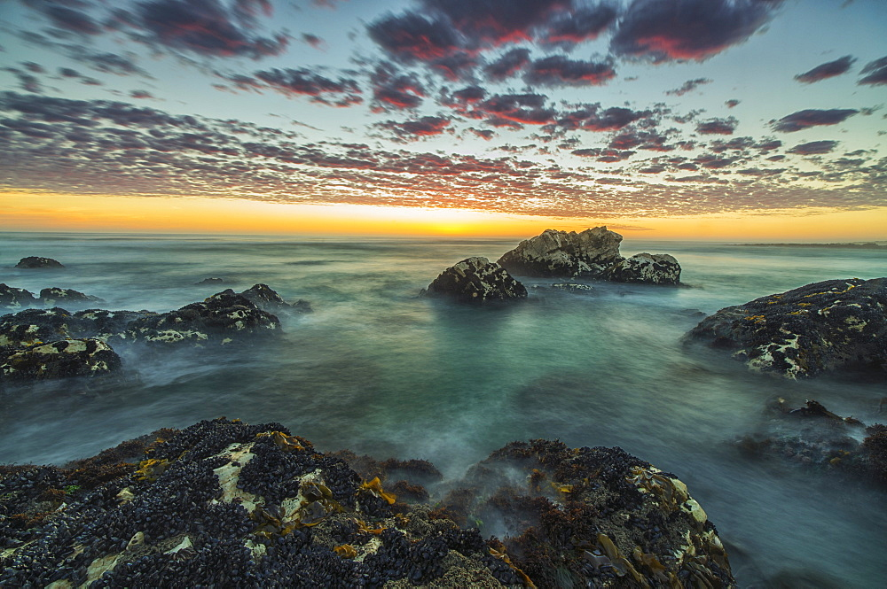 Red Clouds Of Sunset Over The Ocean Along The Coast Of South Africa Near Hondeklip Bay, Namakwa, South Africa