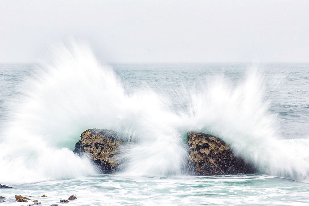 Waves Crash Over Rocks, Namakwaland National Park, South Africa