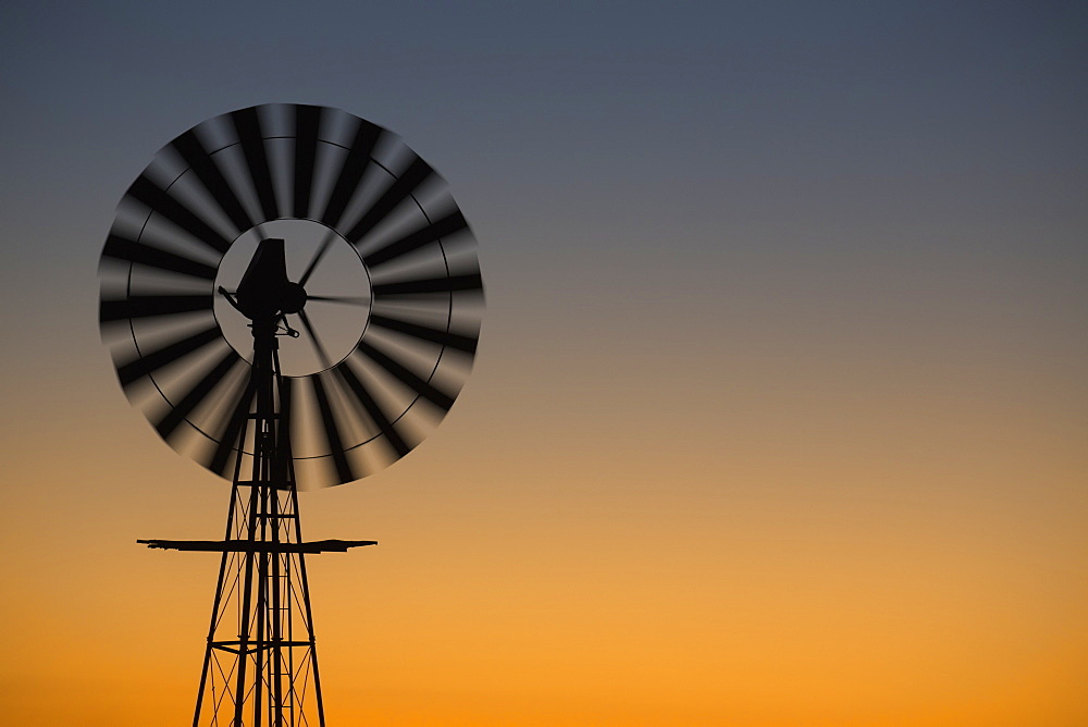 Windmill At Sunset, South Africa