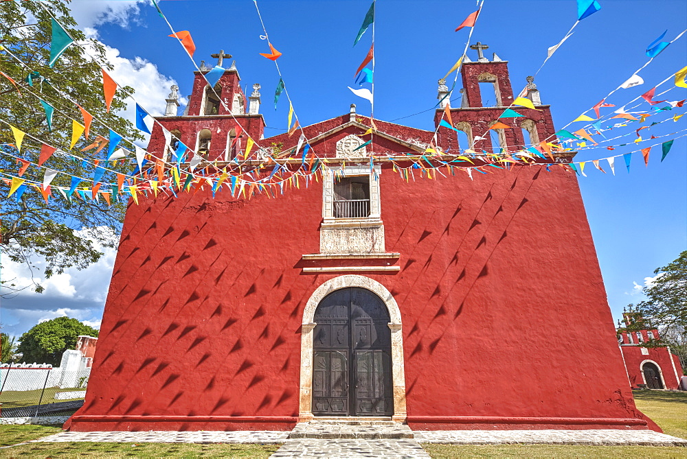 Teabo Convent Of Saints Peter And Paul, Built In Late Seventeenth Century, Route Of The Convents, Yucatan, Mexico