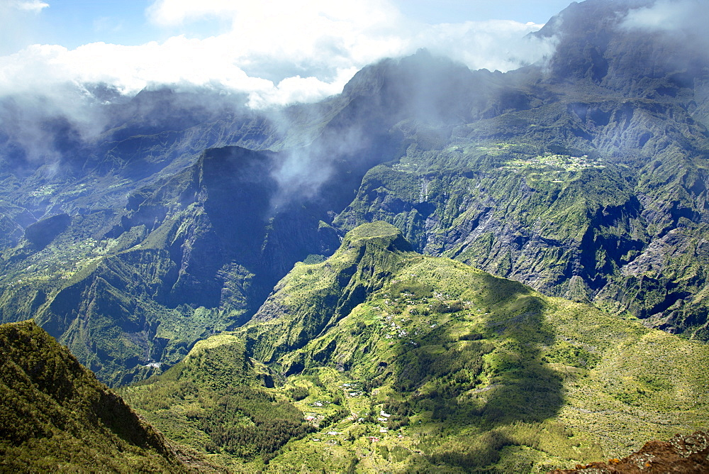 Panorama Of Cirque De Mafate, Reunion Island, France