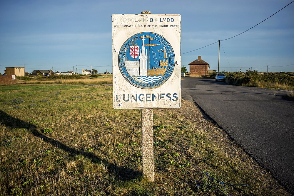 Roadside Sign Entering Dungeness, Dungeness, Kent, England