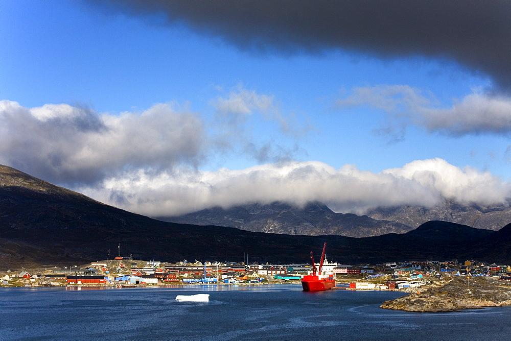Port Of Nanortalik, Island Of Qoornoq, Province Of Kitaa, Southern Greenland, Greenland, Kingdom Of Denmark, North America