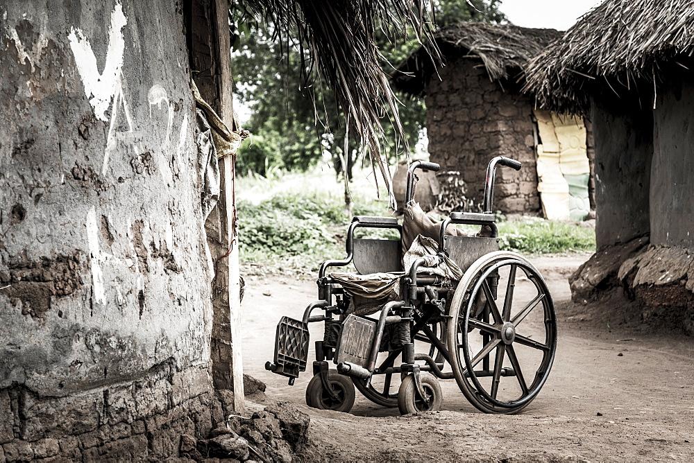 Wheelchair Outside A House, Uganda