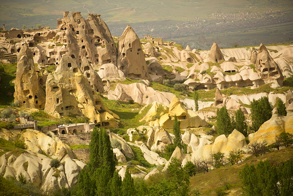Area Around Rock Castle, Uchisar, Cappadocia, Turkey