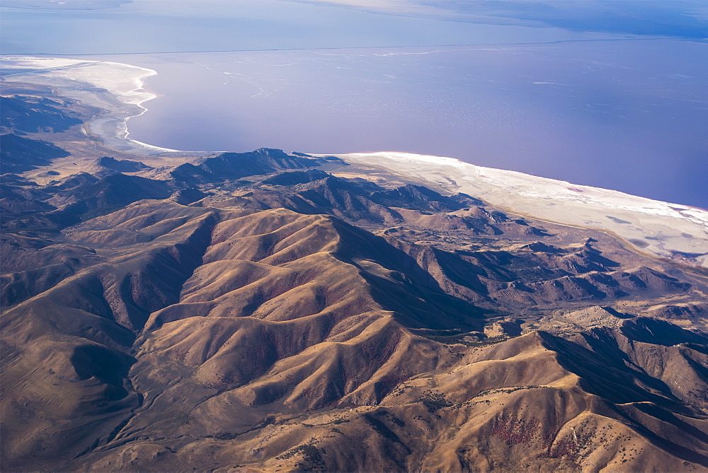 Great Salt Lake Viewed From A Commercial Flight, Salt Lake City, Utah, United States Of America