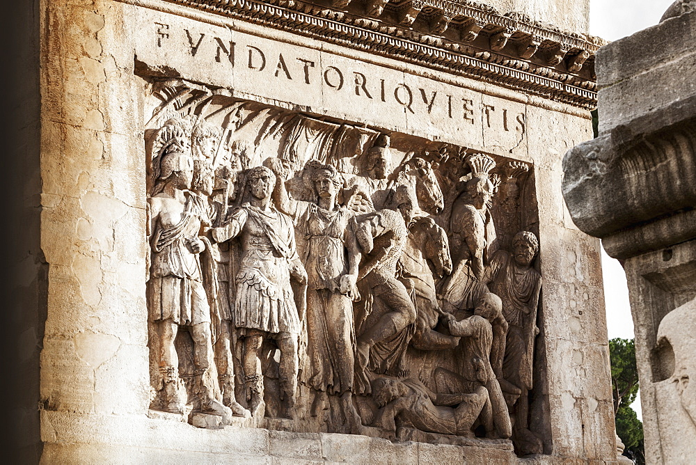 Carved Relief, Rome, Italy
