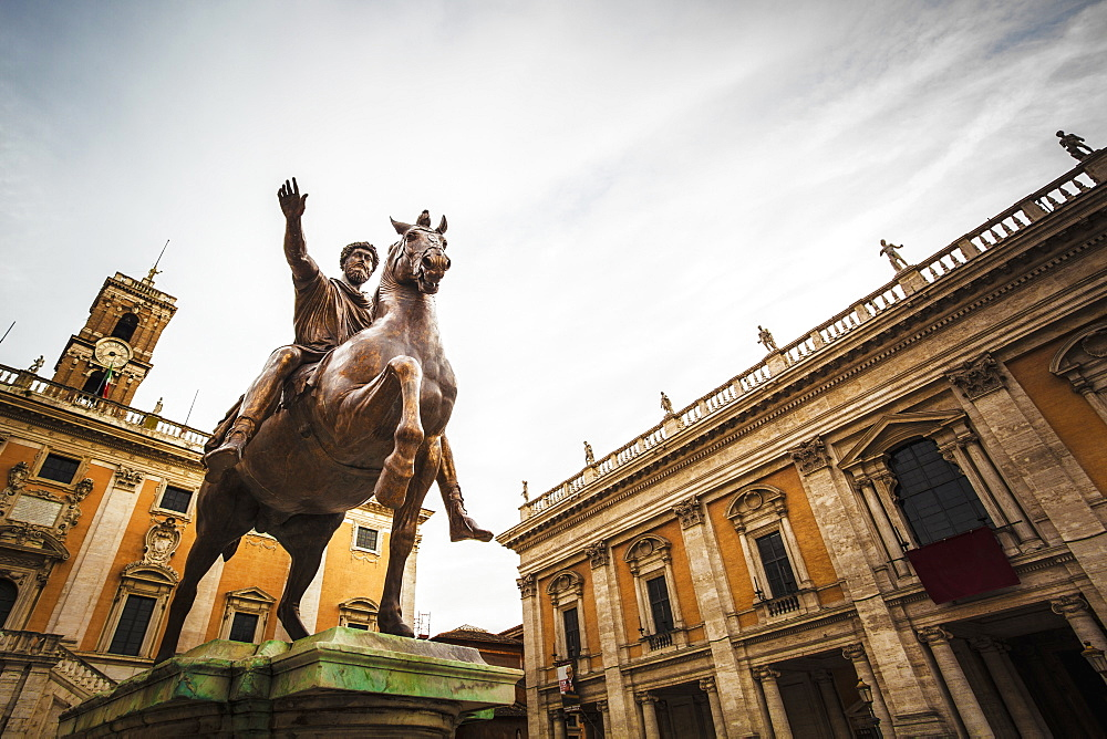 Statue Of Horse And Rider, Rome, Italy