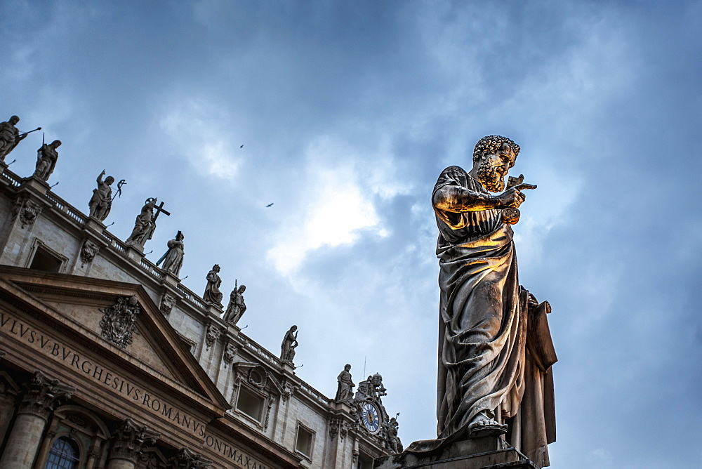 Statue Of Peter At Saint Peter's Basilica, Rome, Italy