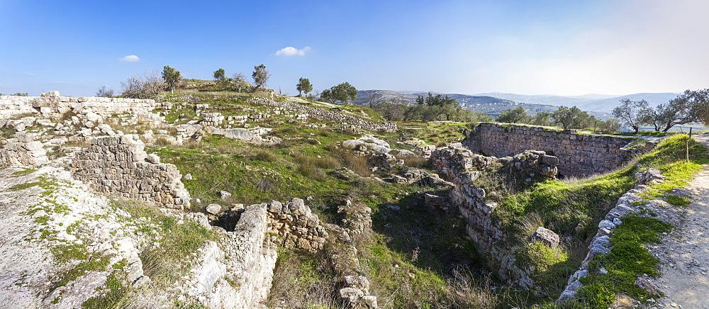 Stone Wall Ruins, Sabasita, Samaria, Israel