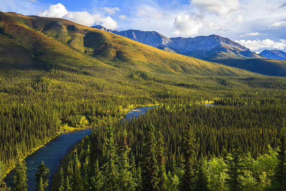 The Lapie River Runs Through The Wilderness Along The South Canol Road, Yukon, Canada