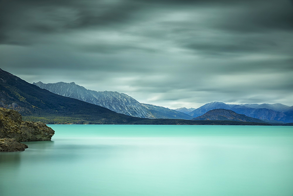 Long Exposure Over Top Of Atlin Lake, British Columbia, Canada