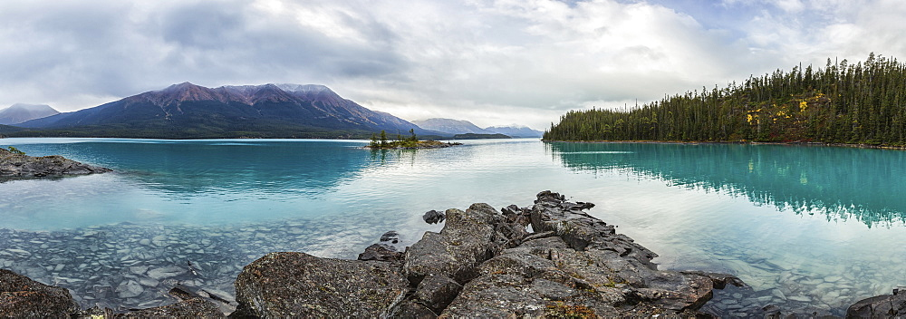 Panoramic View Of Atlin Lake, British Columbia, Canada