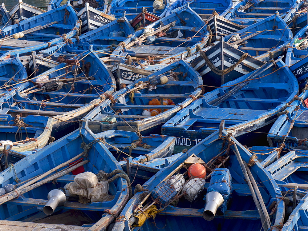 Fishing Boats In The Fishing Port, Essaouira, Morocco