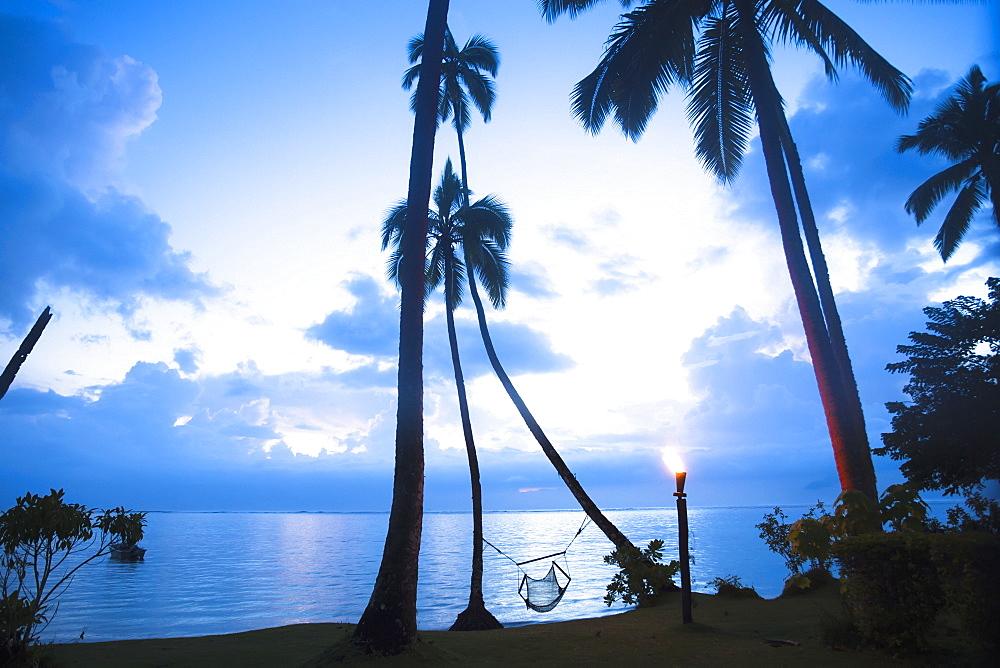 A Beachfront Hammock Beckons A Guest, Sigatoka, Coral Coast, Fiji