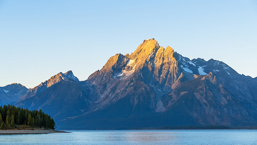 Grand Teton Range And Lake Jackson, Grand Teton National Park, Wyoming, United States Of America