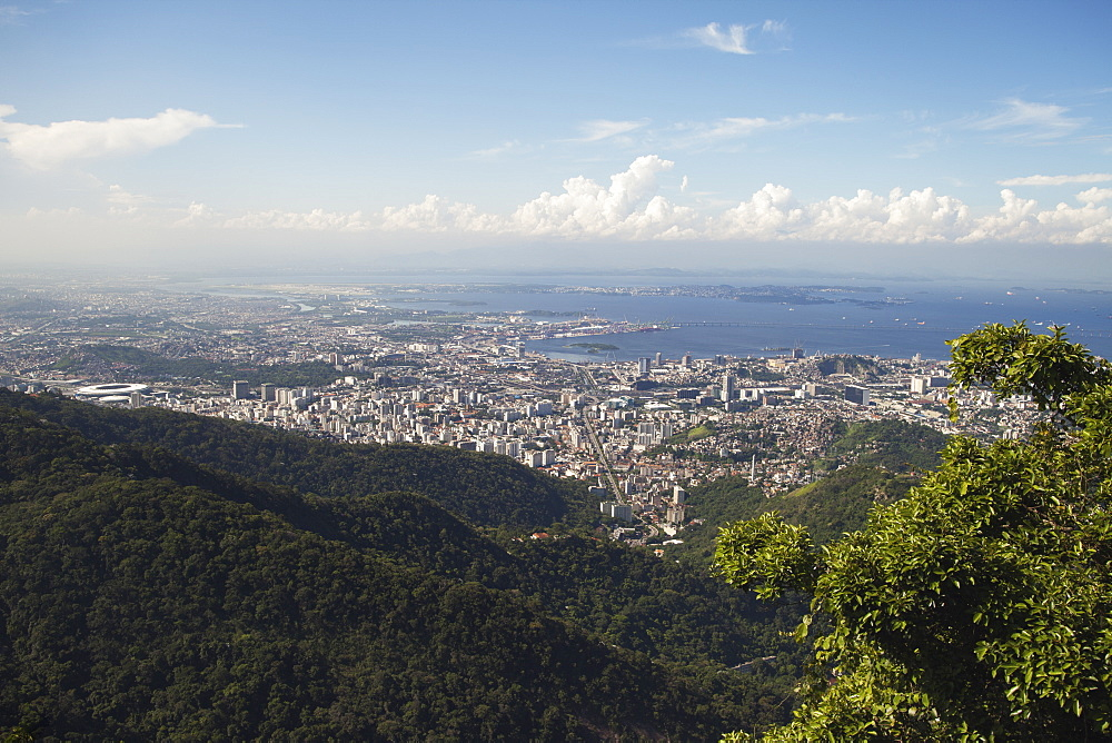 View Of Rio City Centre From Christ The Redeemer Statue, Corcovado Mountain, Tijaca National Park, Rio De Janeiro, Brazil