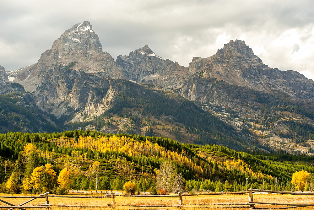 Grand Teton Range In Autumn, Grand Teton National Park, Wyoming, United States Of America
