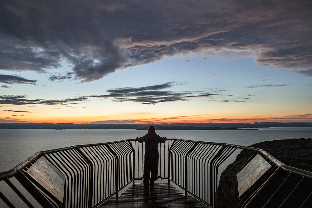 Lookout Over Lake Superior At Sunset, Thunder Bay, Ontario, Canada