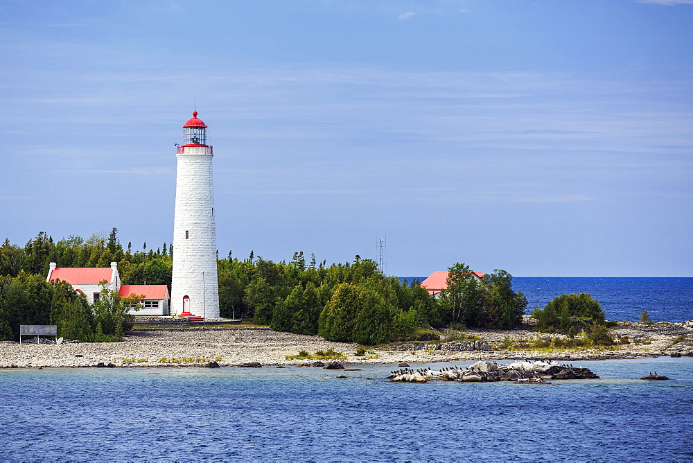 Lighthouse On Cove Island, Fathom Five National Marine Park, Georgian Bay, Lake Huron, Ontario, Canada
