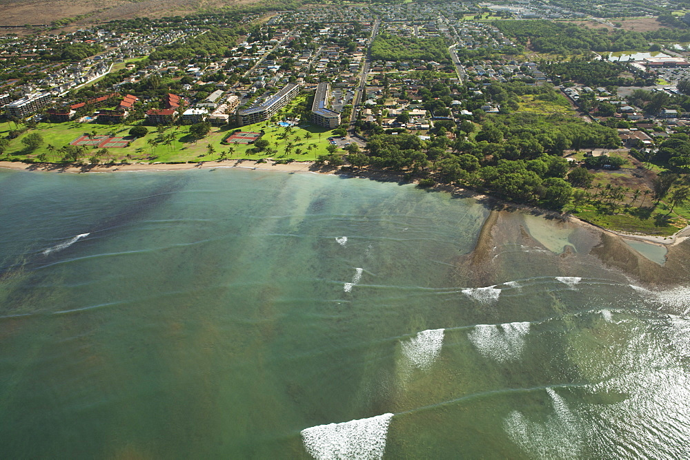 Aerial View Of Waipuilani Park, Kihei, Maui, Hawaii, United States Of America