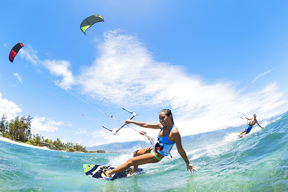 Kite Boarding, Fun In The Ocean, Extreme Sport