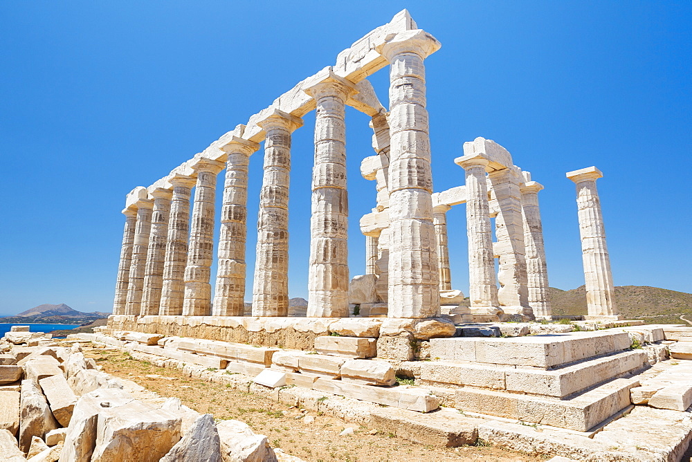 Greek Temple Ruins, Temple Of Poseidon Near Athens