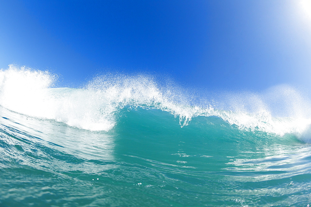 Blue Ocean Wave And Sunny Blue Sky
