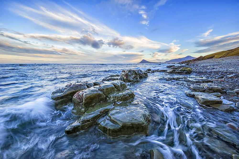 The Waves Crash Into The Shoreline, West Fjords, Iceland