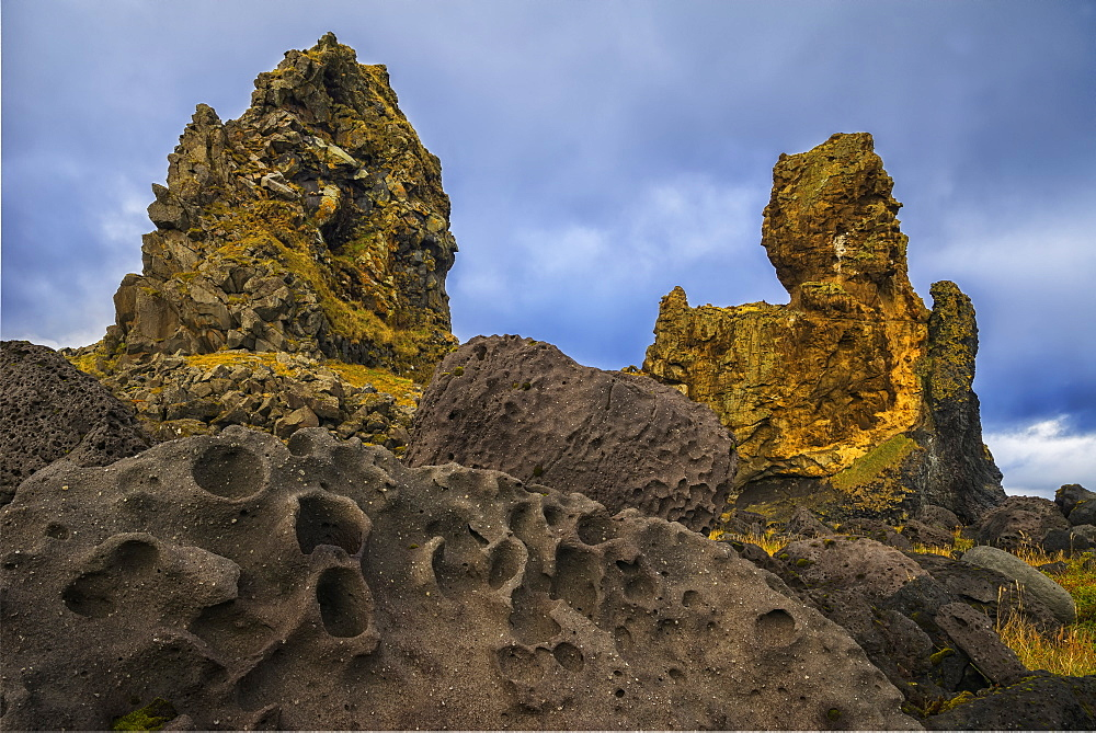 Londranger Is An Ancient Sea Stack Along The Coast Of The Snaefellsness Peninsula, Iceland