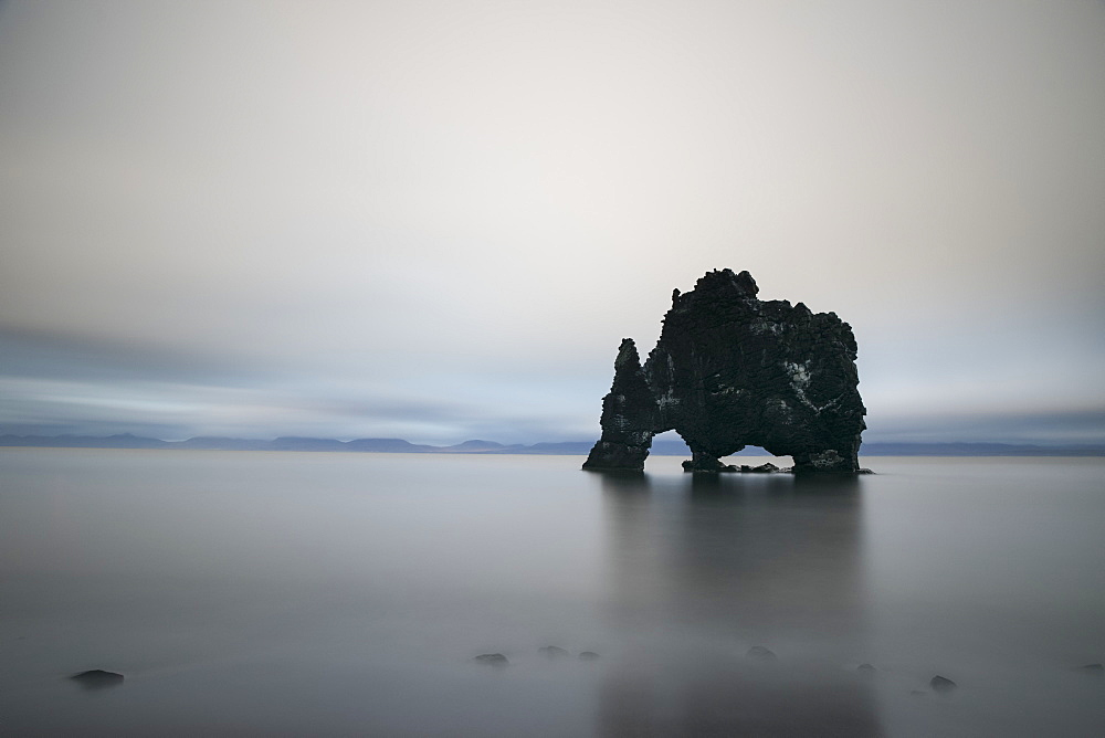 The Sea Stack Known As Hvitserkur In Northern Iceland, Iceland