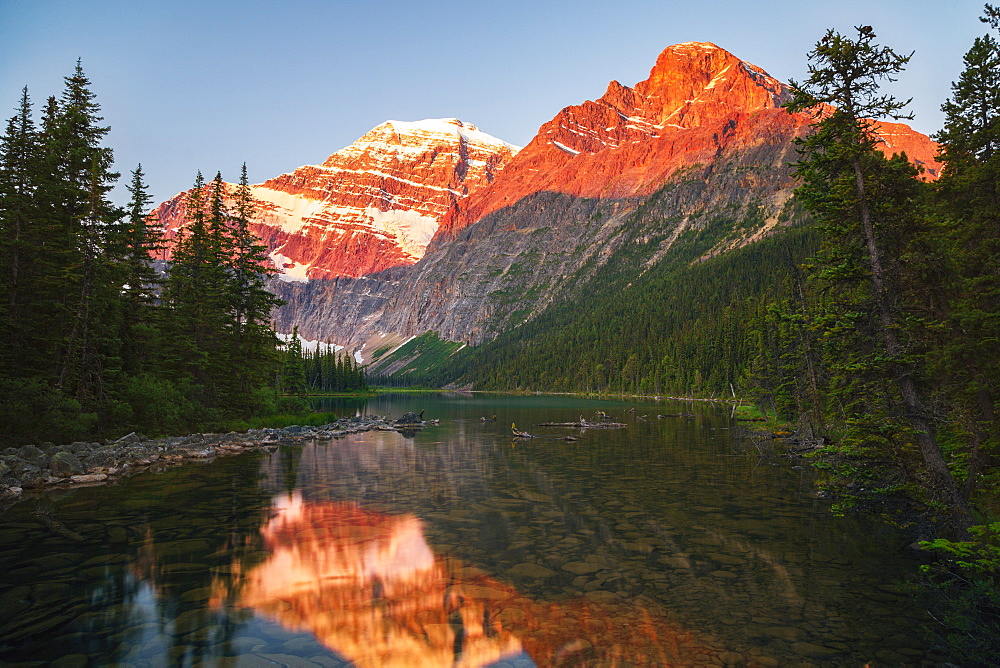Mount Edith Cavelle In Jasper National Park, Alberta, Canada