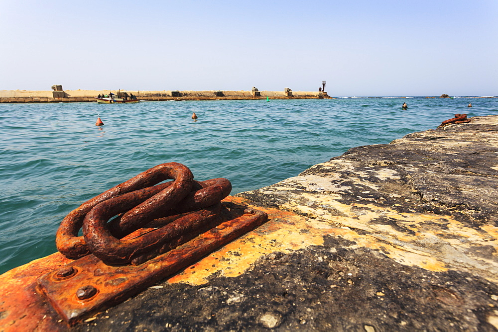 Rusted Metal Piece On The Pier At The Harbour, Joppa, Israel