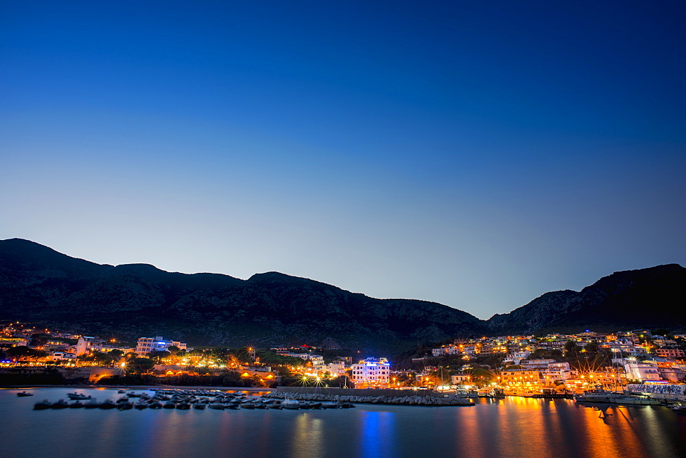 Cala Gonone At Night, Cala Gonone, Sardinia, Italy