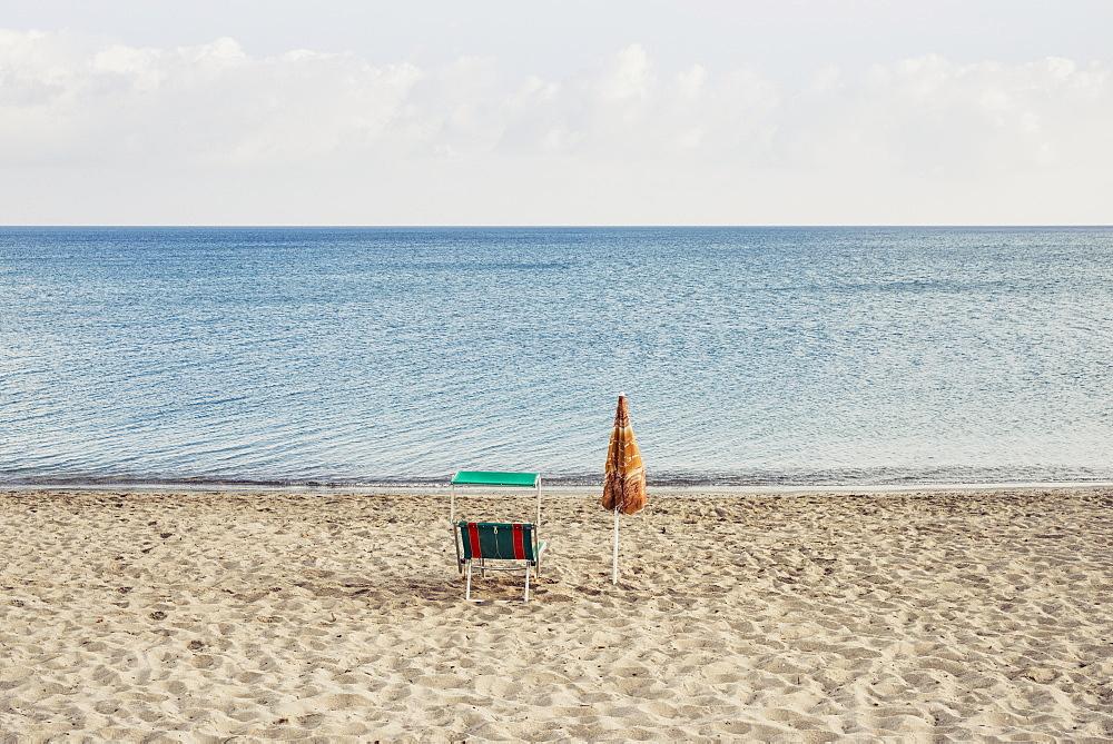 Deserted Platamona Beach, Sassari, Sardinia, Italy