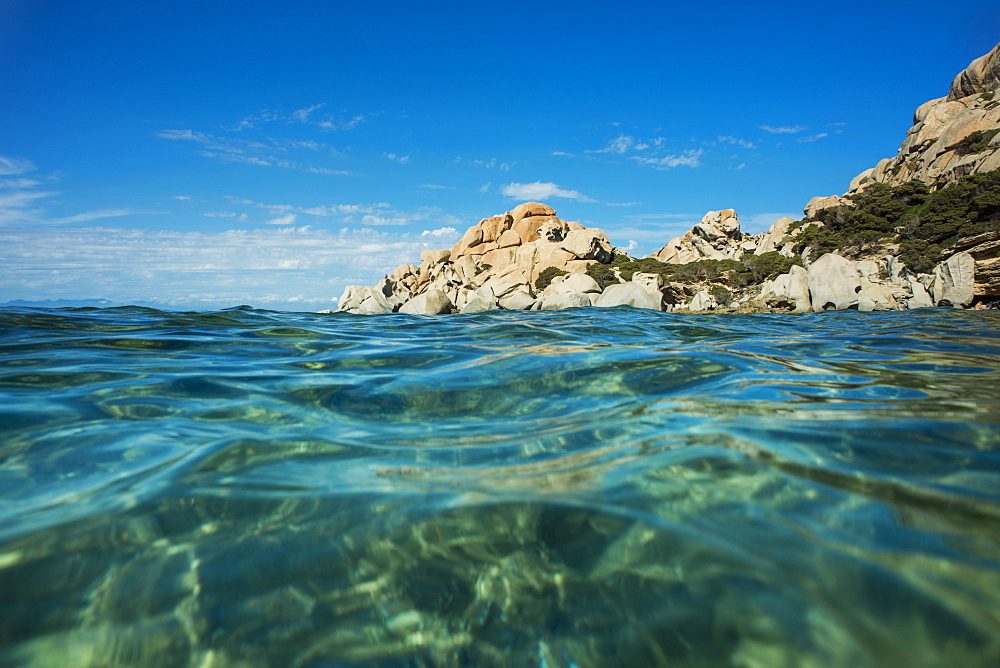 Clear Waters In Valle Della Luna, Santa Teresa, Sardinia, Italy