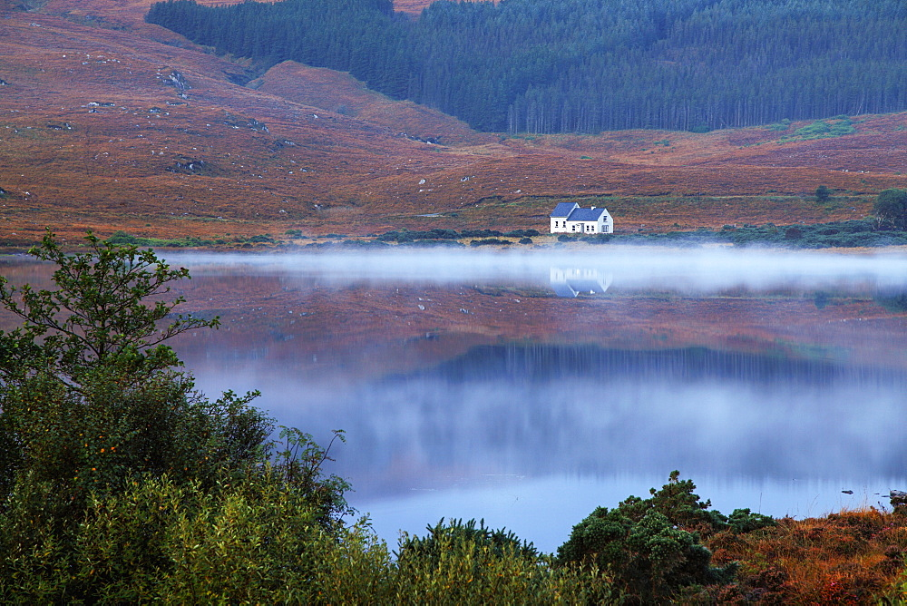 Lake Reflections And Mist, Dunlewey, County Donegal, Ireland