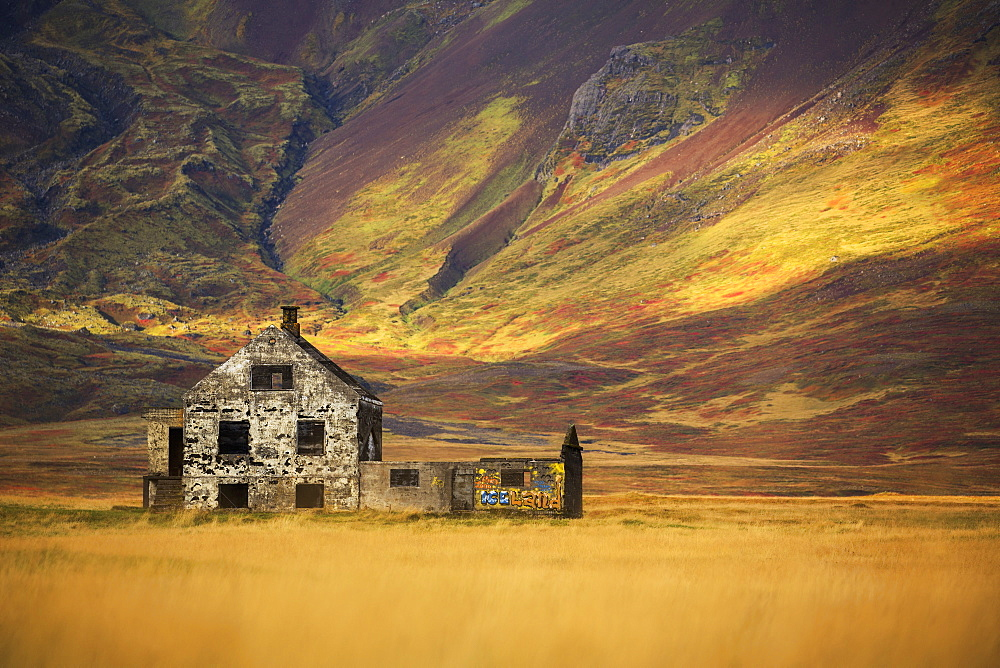 Abandoned House In Rural Iceland, Snaefellsness Peninsula, Iceland