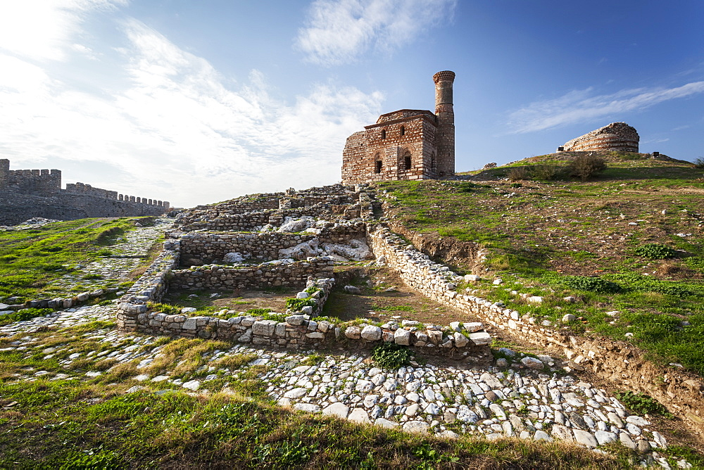 Selcuk Castle And Mosque With Minaret, Ephesus, Turkey
